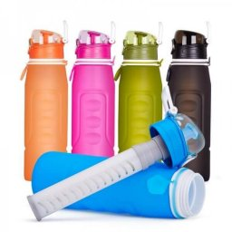 collapsible silicone water bottle with filter 02