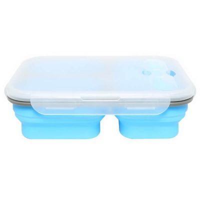 3 compartment silicone lunch box