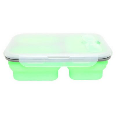 green silicone lunch box