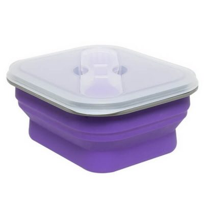 600 purple silicone lunch box