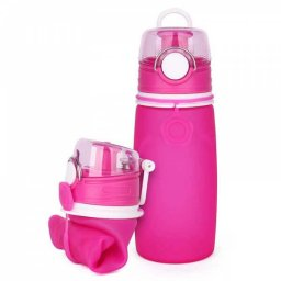 silicone roll up water bottle (2)