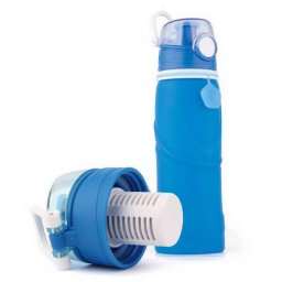 silicone water bottle with filter 01