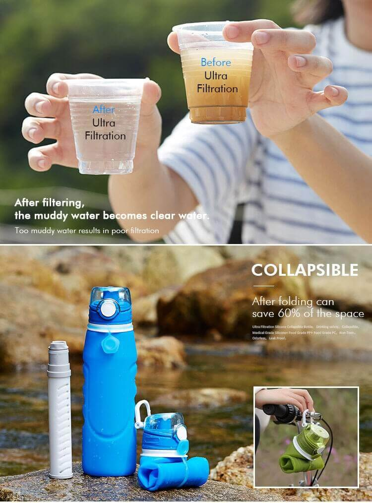 collapsible silicone water bottle with filter 01